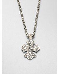 Konstantino - Metallic Sterling Silver Cross Pendant Necklace - Lyst