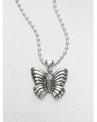 Lagos | Metallic Sterling Silver Butterfly Pendant Necklace | Lyst
