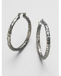 Marc By Marc Jacobs - Metallic Dragon Scale Hoop Earrings - Lyst