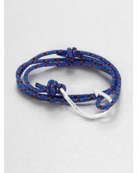 Miansai | Blue Hook Rope Wrap Bracelet | Lyst