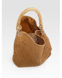 Ralph Lauren Collection | Brown Woven Leather Hobo | Lyst