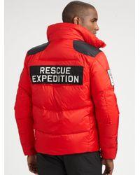 RLX Ralph Lauren - Red Radial Down Jacket for Men - Lyst