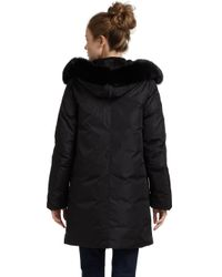 Sam. - Black Nord Stadium Fox Fur Trim Puffer Jacket - Lyst