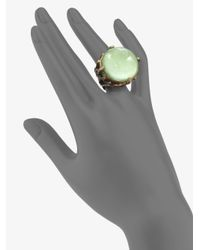 Stephen Dweck | Green Rock Crystal Lime Jade Bamboo Ring | Lyst