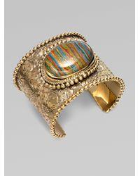 Stephen Dweck | Metallic Calsilica Medallion Bracelet | Lyst