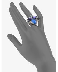 Stephen Webster - Blue Semiprecious Multistone Cluster Ring - Lyst