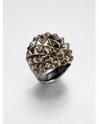 Stephen Webster | Metallic Sterling Silver Studded Dome Ring for Men | Lyst