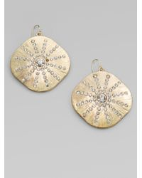 ABS By Allen Schwartz | Metallic Sparkle Sand Dollar Earrings | Lyst