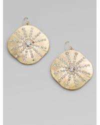 ABS By Allen Schwartz - Metallic Sparkle Sand Dollar Earrings - Lyst