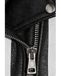Acne Studios   White Mape Striped Leather Biker Jacket   Lyst