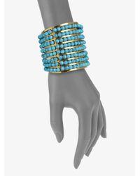 Aerin Erickson Beamon | Blue Turquoise Cuff Bracelet | Lyst