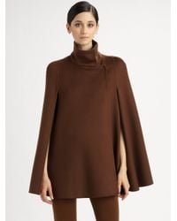 Akris | Brown Snap Closure Cape  | Lyst