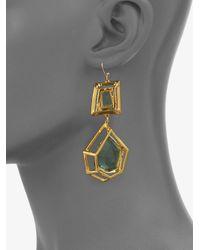 Alexis Bittar - Modern Georgian Green Amethyst Hyrdroquartz Double Drop Earrings - Lyst