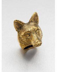 Burberry | Metallic Fox Ring | Lyst