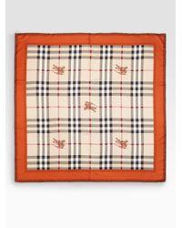 Burberry | Natural Silk Brogue Haymarket Scarf | Lyst