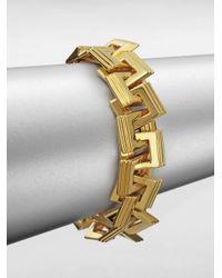 Eddie Borgo | Metallic Helix Link Chain Bracelet | Lyst