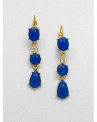 kate spade new york - Blue Moonlit Way Cabochon Drop Earrings - Lyst