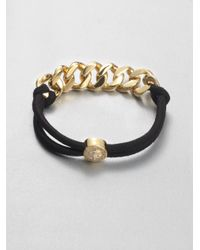 Marc By Marc Jacobs | Black Chain Link Elastic Bracelet | Lyst