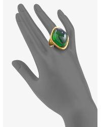 Oscar de la Renta - Green Cabochon Ring - Lyst