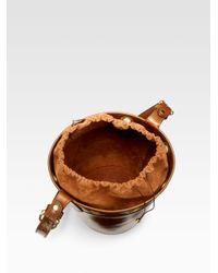 Saddlers Union - Brown Drawstringtop Bucket Bag - Lyst