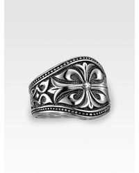 Scott Kay | Metallic Engraved Silver Ring for Men | Lyst
