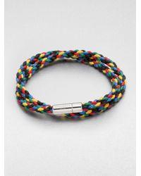 Tateossian - Multicolor Braided Leather Bracelet for Men - Lyst