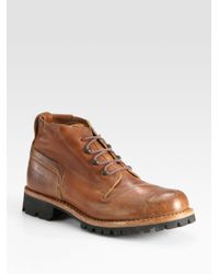 Timberland | Brown Tackhead Lineman Chukka Boots for Men | Lyst