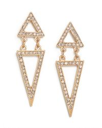 BaubleBar - White Ice Double Triangle Drops - Lyst