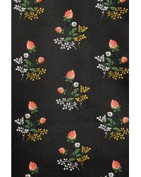 Derek Lam - Black Floralprint Satin Twill Pencil Skirt - Lyst