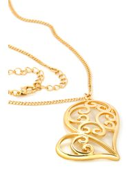 ModCloth   Metallic Doodle Love Me Necklace   Lyst
