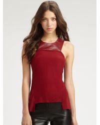 Sachin & Babi | Black Sasha Leather Collar Top | Lyst
