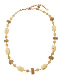 Stephen Dweck - Metallic Carved Bone Novelty Necklace - Lyst