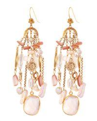 Stephen Dweck | Pink Pearl Rose Quartz Chandelier Earrings | Lyst