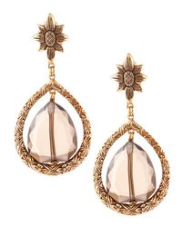 Stephen Dweck | Metallic Smoky Quartz Teardrop Earrings | Lyst