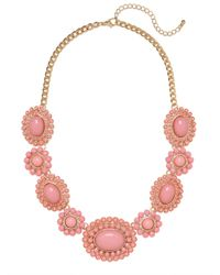 BaubleBar - Metallic Pink Sunbloom Necklace - Lyst