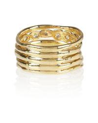 Ippolita - Metallic Starlet Movie Star Stacked 18karat Gold Diamond Ring - Lyst