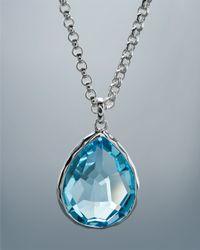 Ippolita - Blue Topaz Pendant Necklace Medium - Lyst