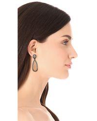 One By - Metallic Crown Double Drop Earrings - Lyst