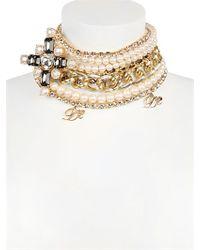 DSquared² | Metallic Swarovski Multi Chain Necklace | Lyst