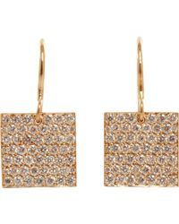 Irene Neuwirth | Natural Women's Square Drop Earrings | Lyst