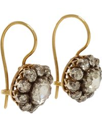 Olivia Collings | Metallic Diamond Cluster Earrings | Lyst