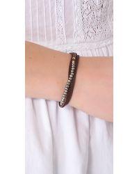 Shashi - Brown Rachel Small Leather Wrap Bracelet - Lyst