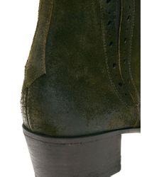 Jeffery West Brown Muse Side Zip Cuban Heel Boots for men