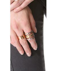 Michael Kors - Metallic Brilliance Tritone Intertwined Ring - Lyst