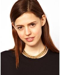 ASOS Collection - Metallic Vintage Style Chain Necklace with Spike Extender - Lyst