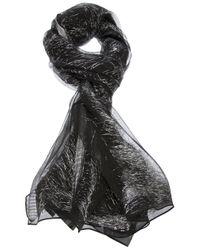 Giorgio Armani - Black Threaded Shawl - Lyst