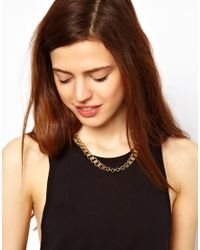 ASOS - Metallic Vintage Style Chain Link Necklace - Lyst