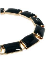 ASOS Collection - Black Asos Enamel Link Bracelet for Men - Lyst