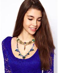 ASOS Collection - Metallic Asos Crocodile Queen Necklace - Lyst