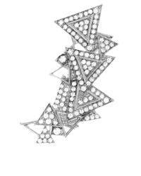 ASOS Collection - Metallic Asos Triangle Ear Cuff - Lyst